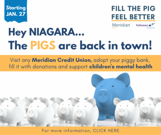"It's Back … and BIGGER – ""Fill the Pig, Feel Better"" campaign expands in year two, in support of children's mental health in Niagara"