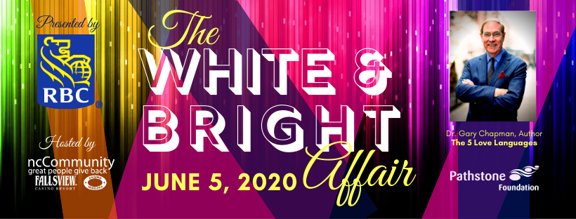 "The White & Bright Affair welcomes ""The 5 Love Languages"" best- selling author, Dr. Gary Chapman"