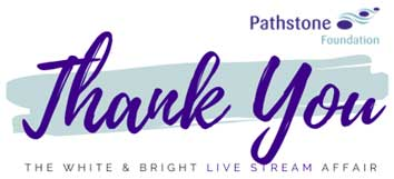 A BIG Thank you for supporting the first White & Bright > FREE Live Stream Affair!